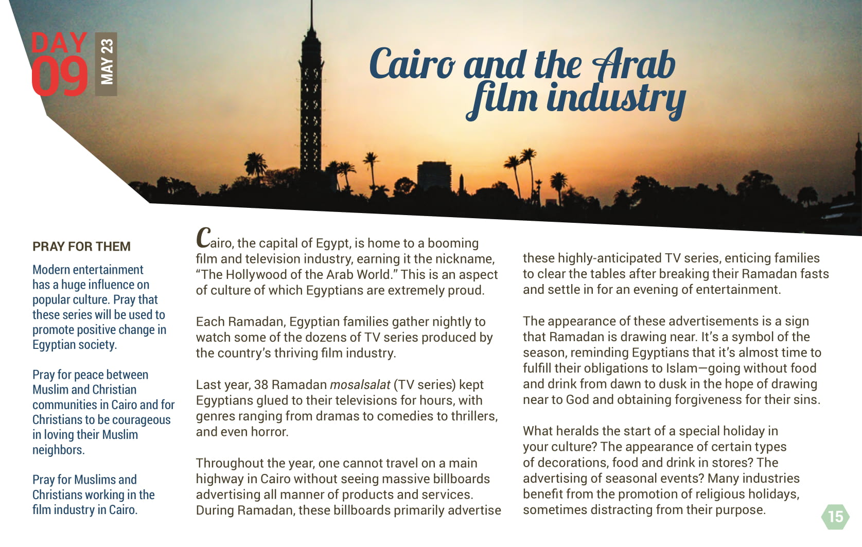 Day 09 - Cairo and the Arab film industry