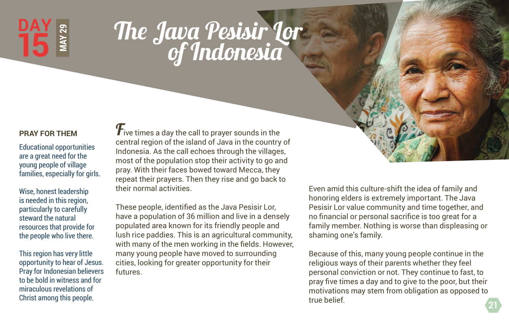 Day 15 - The Java Pesisir Lor of Indonesia