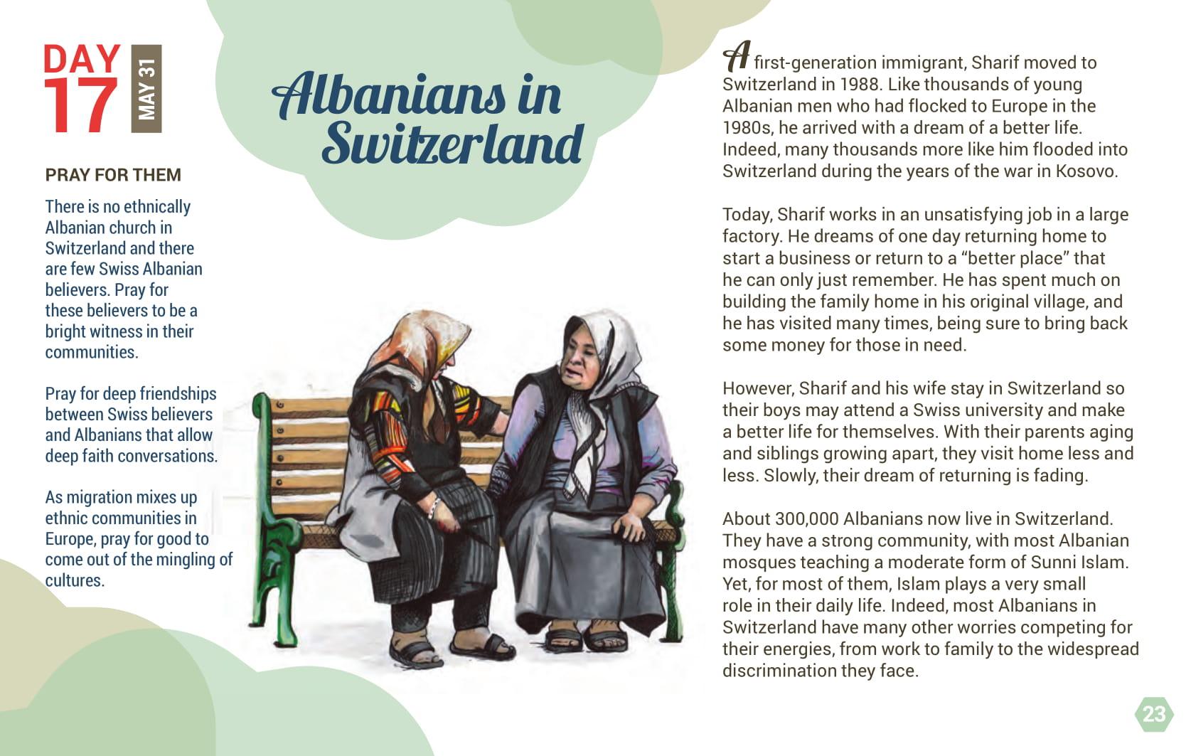 Day 17 - Albanians in Switzerland