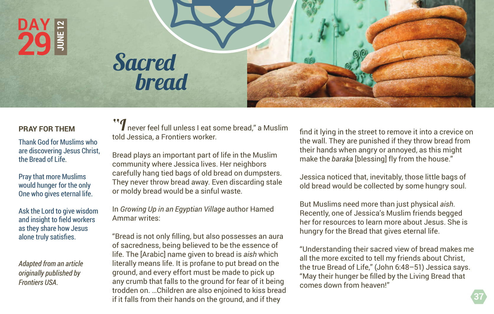 Day 29 - Sacred Bread